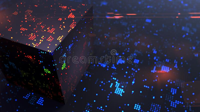 Cryptography of modern computer communication technology stock photography