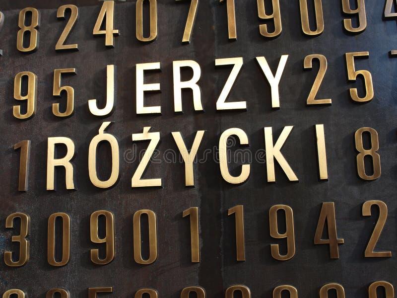 cryptologists pomnikowy Poland polerujący Poznan fotografia stock
