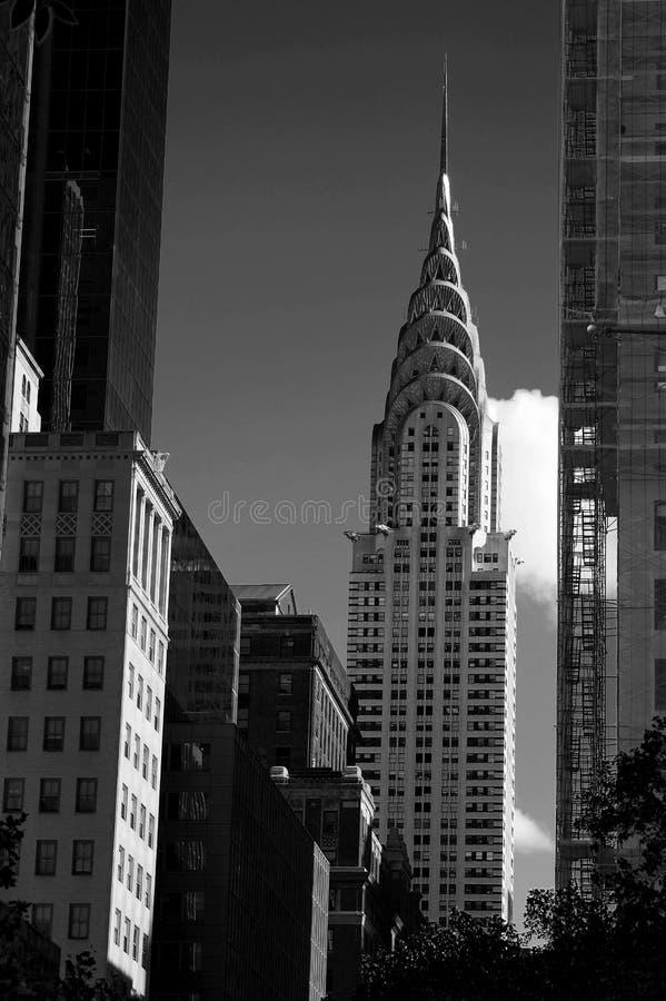 Crysler που χτίζει την πόλη της Νέας Υόρκης σε γραπτό στοκ εικόνες
