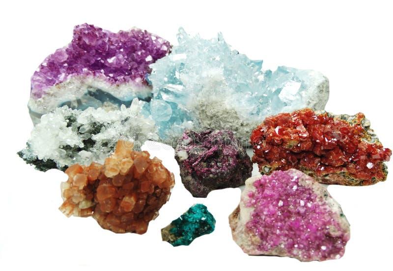 Cryst geologico del erythrite della vanadinite del aragonite del quarzo del Celestite fotografia stock