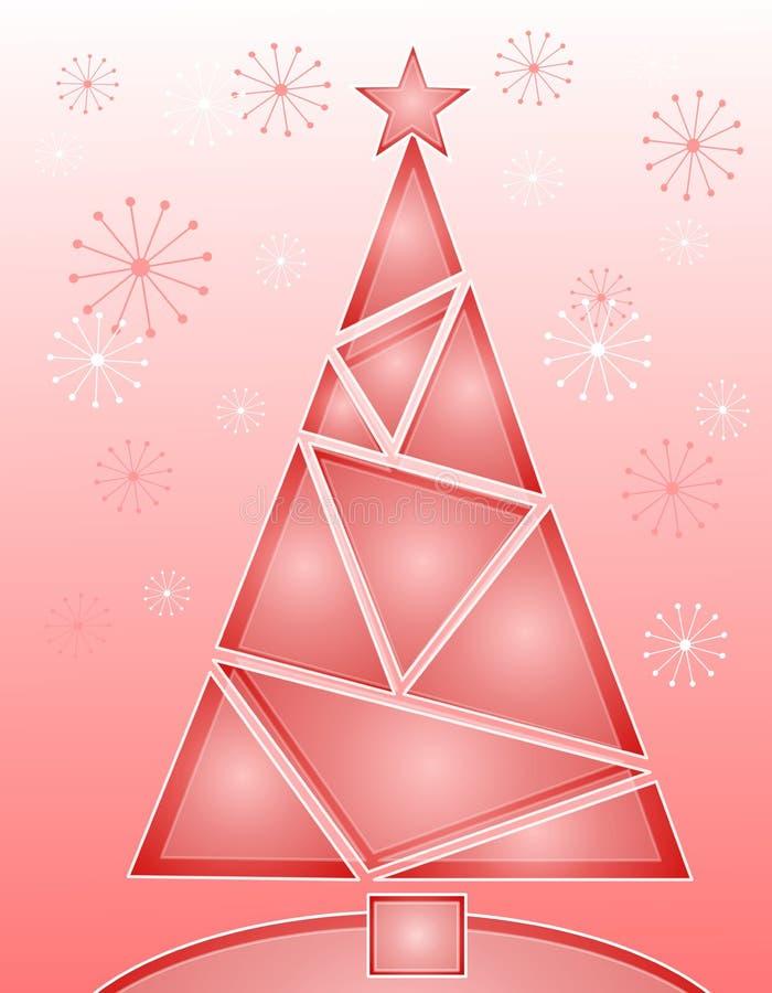 crystal świątecznej różowe drzewo royalty ilustracja