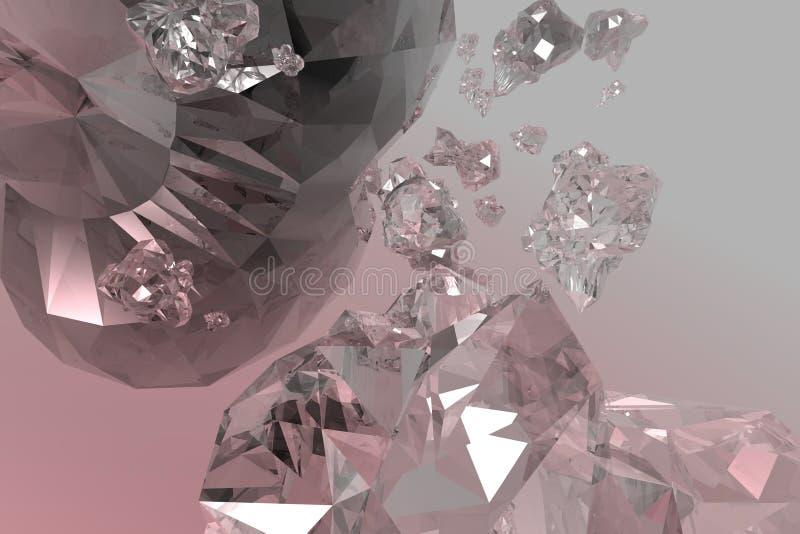 Crystal stock illustration