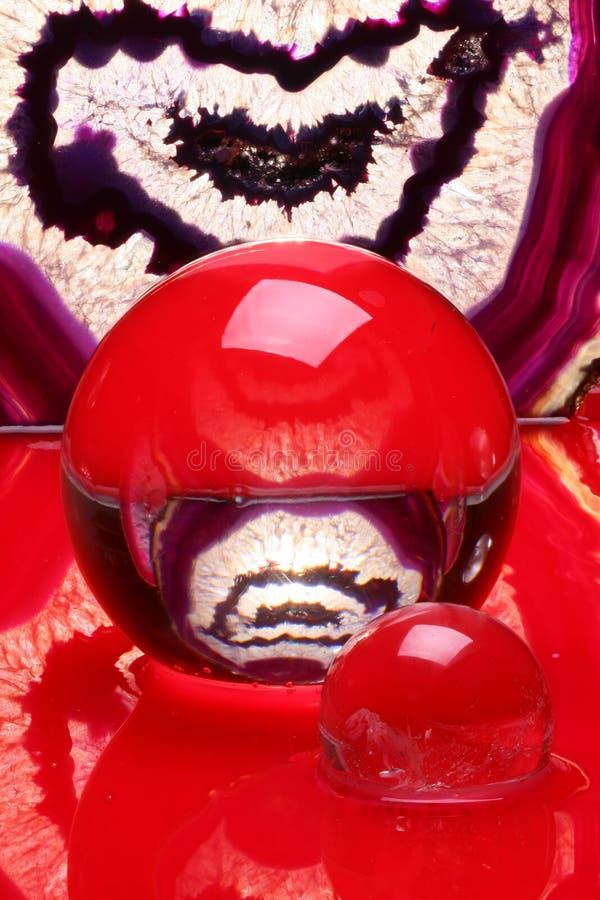 crystal agatebollar fotografering för bildbyråer