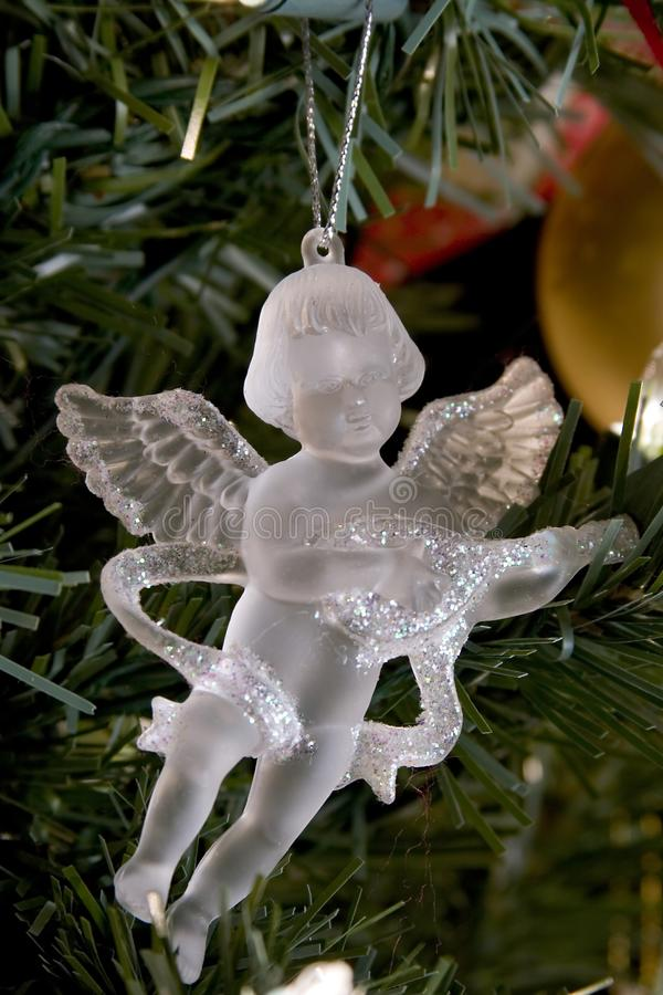 Crystal angel christmas decoration stock photos