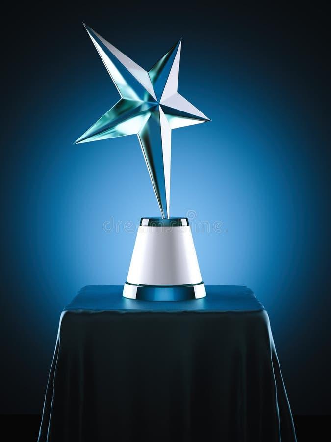 Crystal Award no estúdio moderno rendição 3d ilustração do vetor