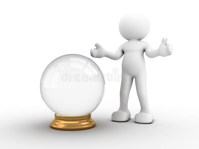 Crystal ball royalty free illustration