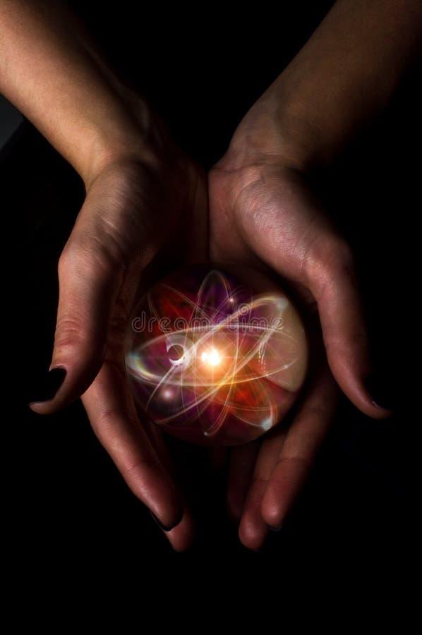 Crystal Ball Atom foto de archivo libre de regalías