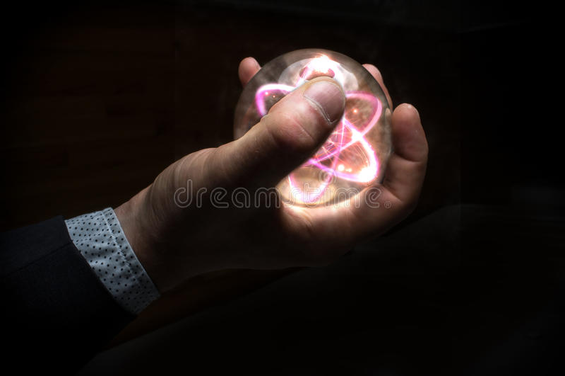 Crystal Ball Atom imagen de archivo
