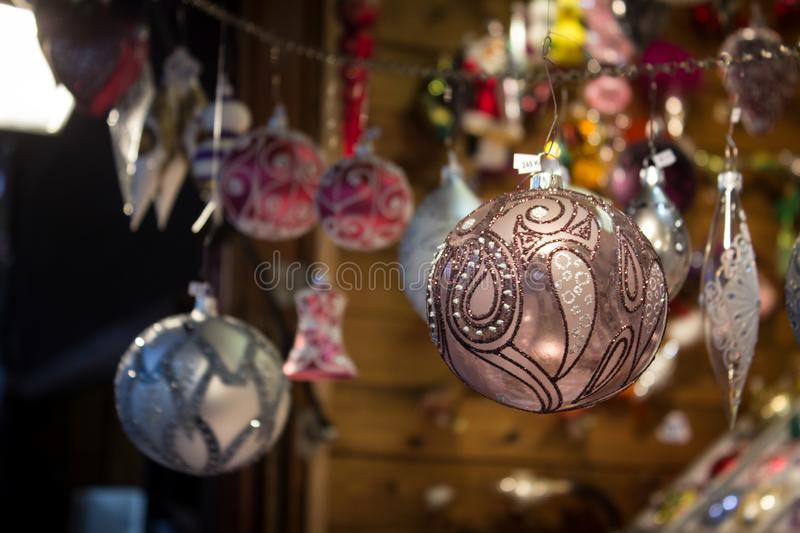 Crystal ball for Christmas decoration. stock images