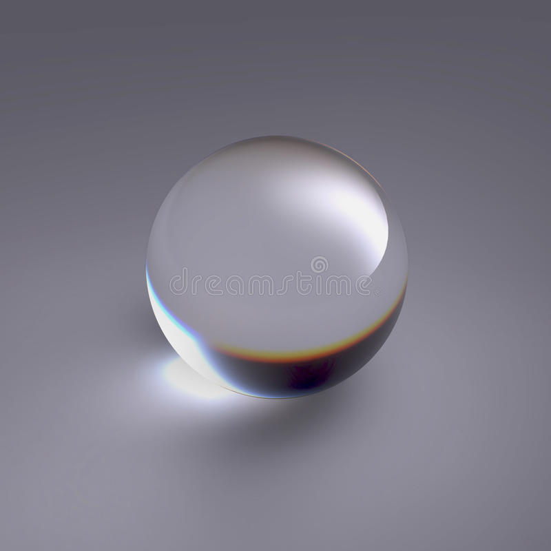 Free Crystal Ball Clear Glass Sphere Stock Image - 28745871