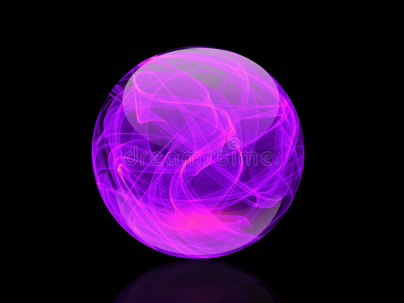 Crystal Ball Colorful elegante su fondo astratto royalty illustrazione gratis