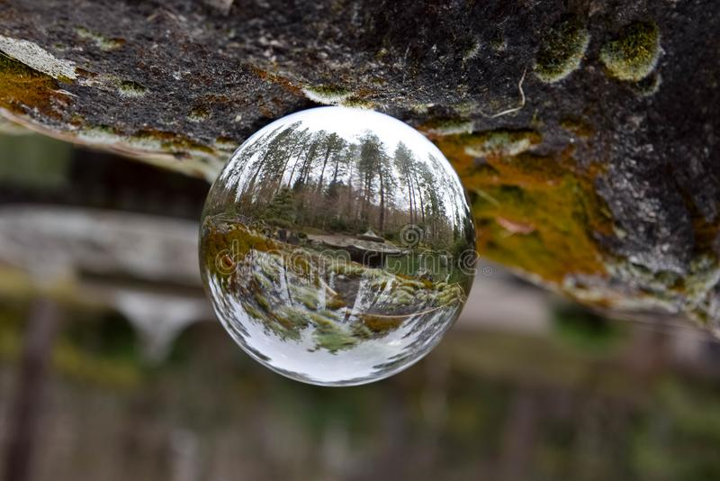 Crystal Ball e giardini giapponesi immagine stock libera da diritti