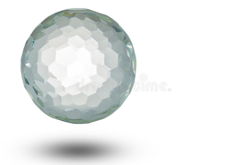 Crystal ball floating on white backgro. Crystal ball floating with soft shadow on white background vector illustration