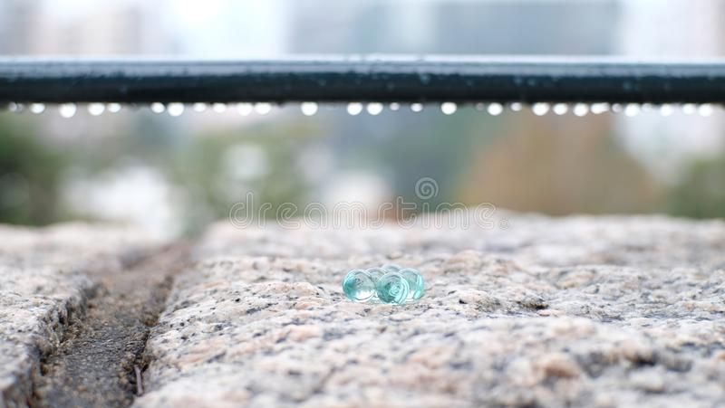 Crystal ball in the garden stock photography