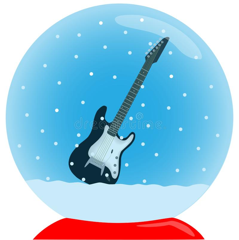 Crystal ball with guitar
