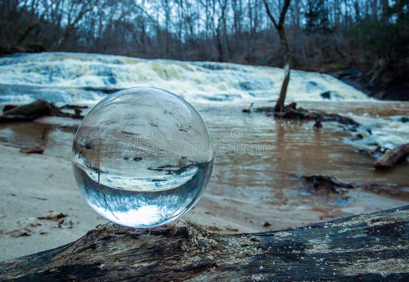 A Crystal Ball Inverts Image royalty free stock photos