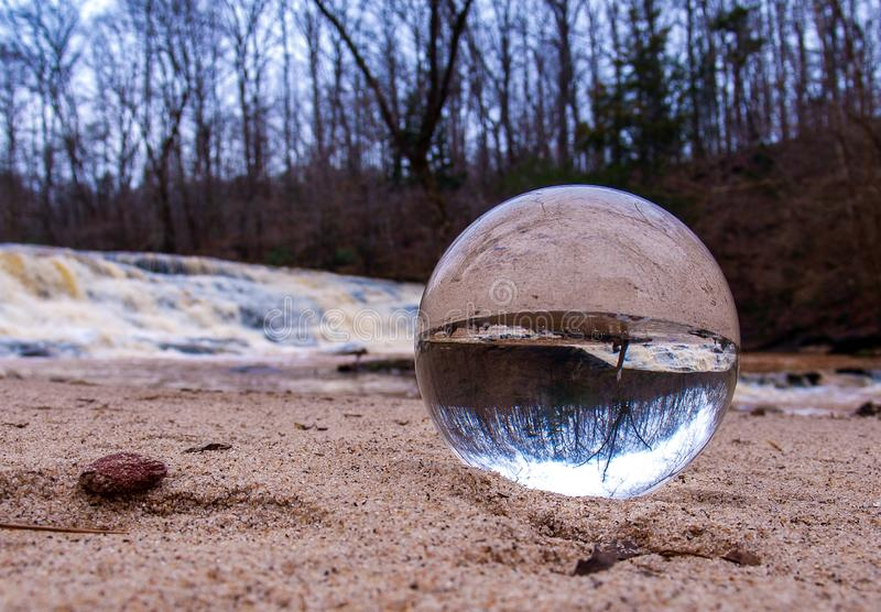 A Crystal Ball Inverts Image stock photography