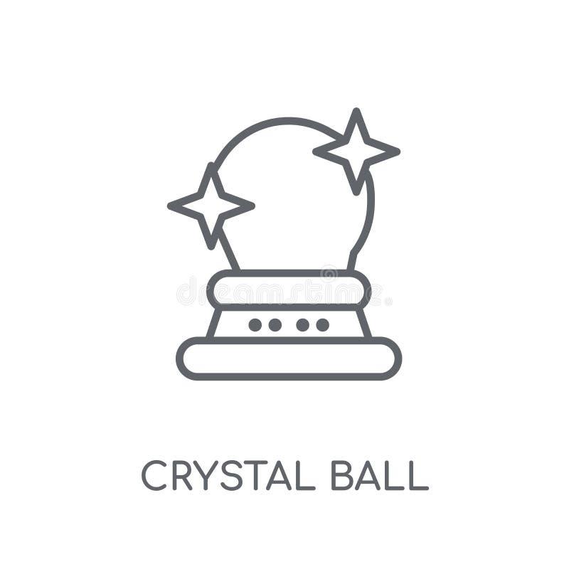 Crystal Ball linjär symbol Modern conce för översiktsCrystal Ball logo vektor illustrationer