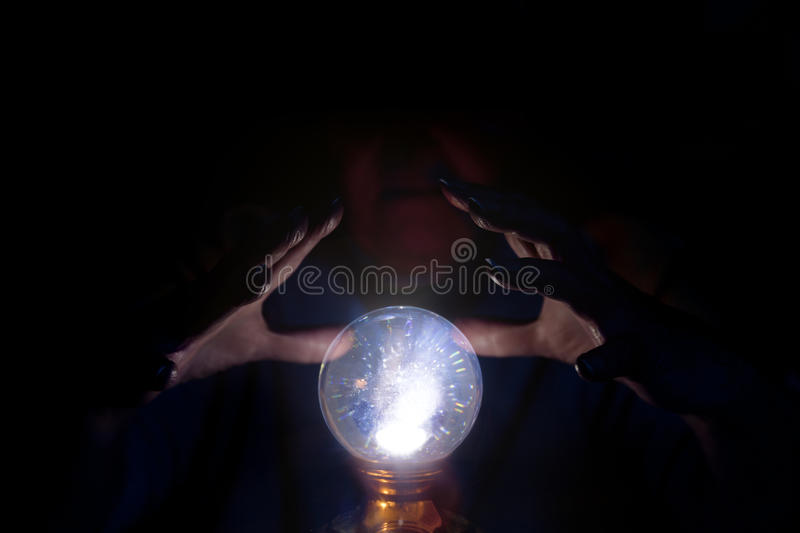 Crystal ball with psychic