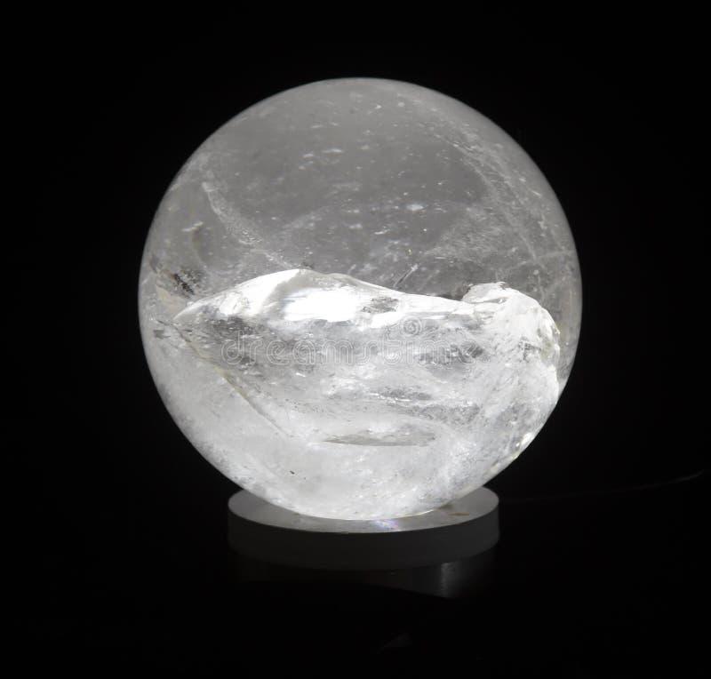 Crystal Ball Quartz Crystal Sphere Healing Energy imagem de stock royalty free