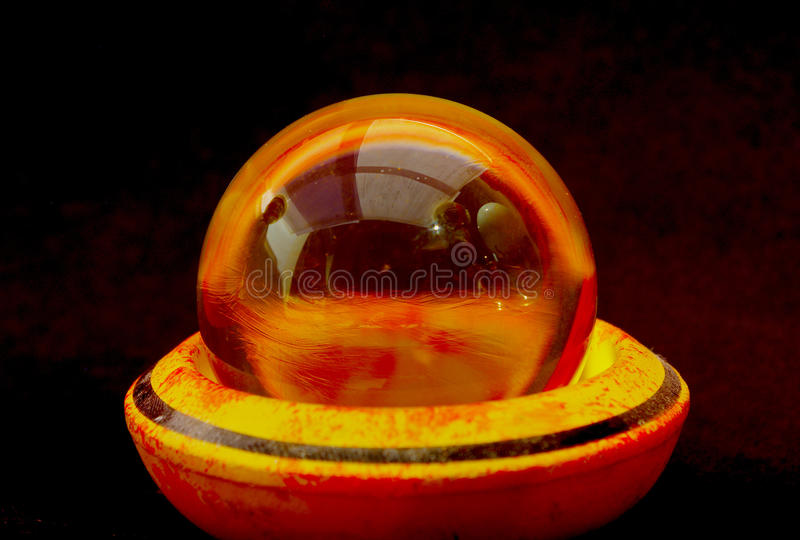 Crystal ball with reflections stock photo