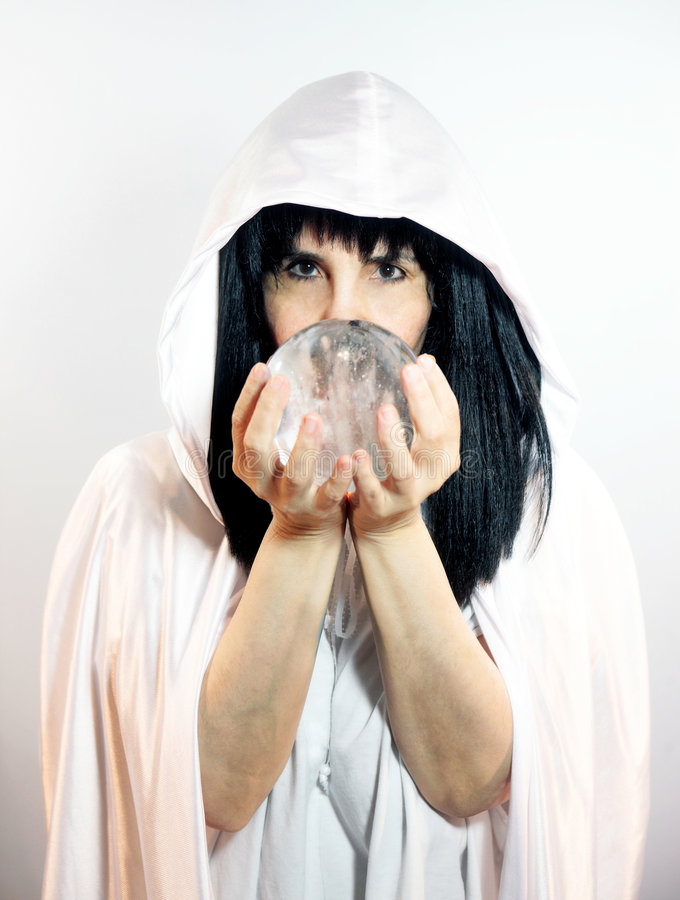 Crystal Ball Seer Stock Images