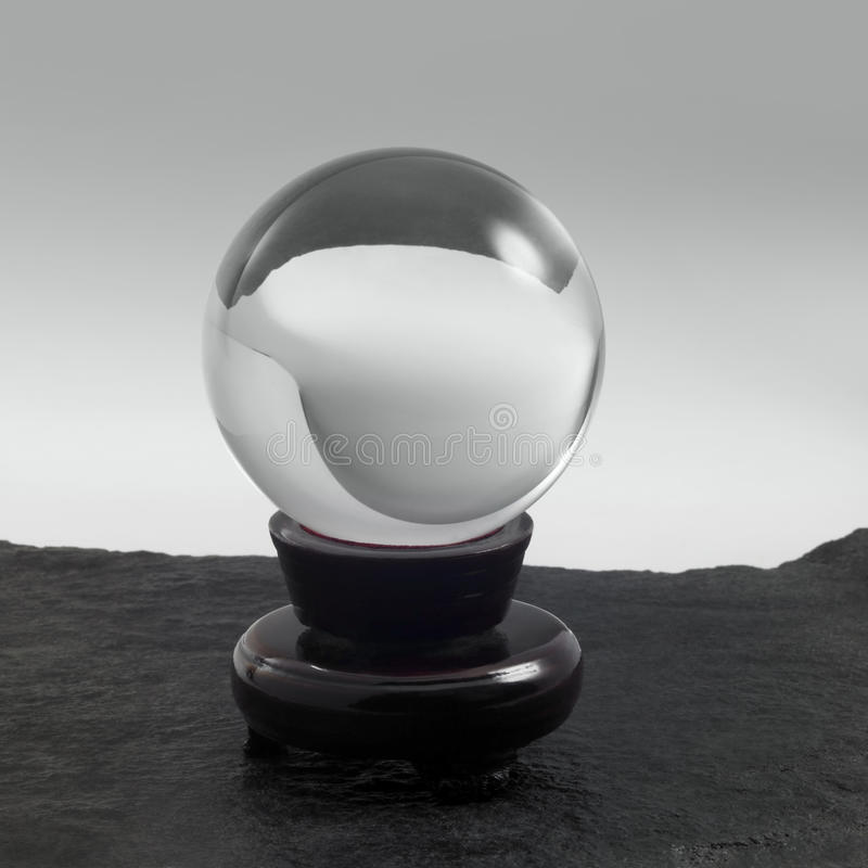 Download Crystal ball on stand stock photo. Image of copy, mystery - 34793534