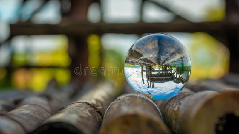 Crystal Ball With Terrace View imagem de stock