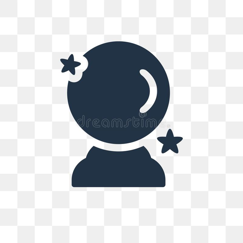 Crystal ball vector icon isolated on transparent background, Cry vector illustration
