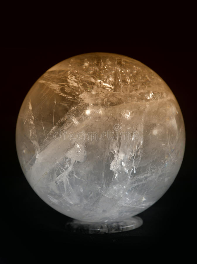 Crystal ball yellow royalty free stock photography