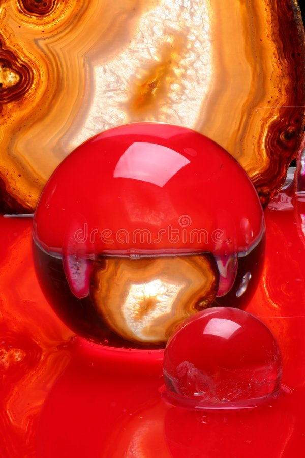 Crystal balls and agate stock photo
