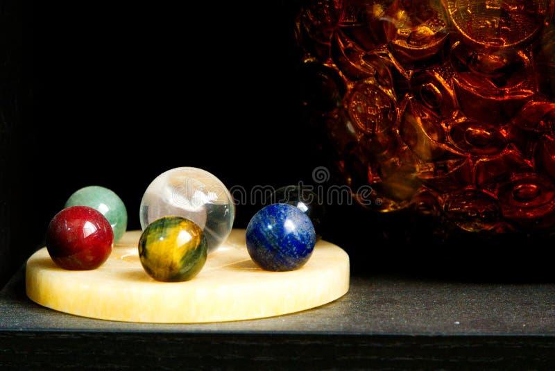Crystal Balls för din hem- Feng Shui Interior Decor royaltyfria foton