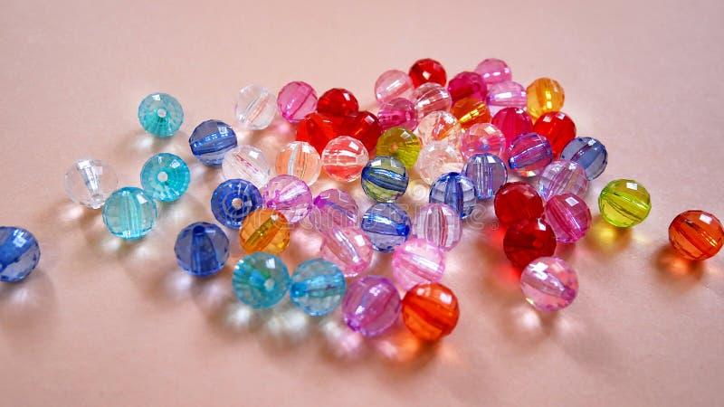Crystal Beads colorido clasificado foto de archivo