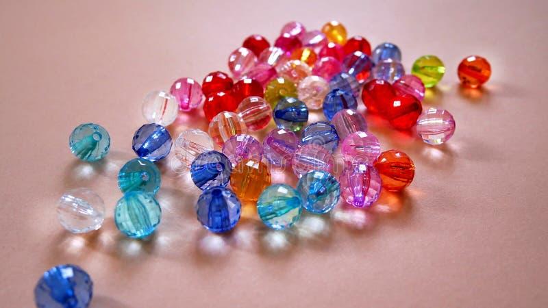Crystal Beads colorido clasificado imágenes de archivo libres de regalías
