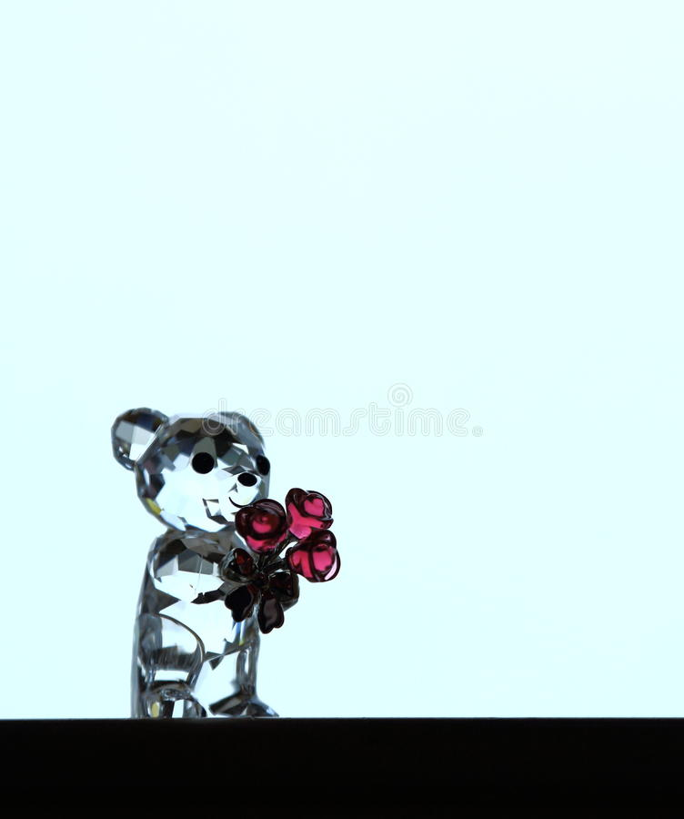 Crystal bear. A lovely bear sculpture in crystal royalty free stock photography
