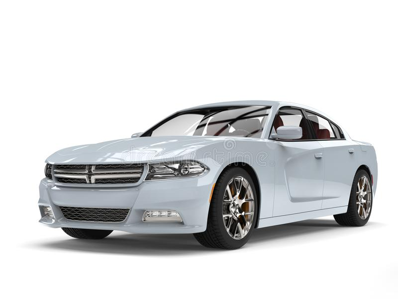 Crystal blue modern city fast car stock illustration