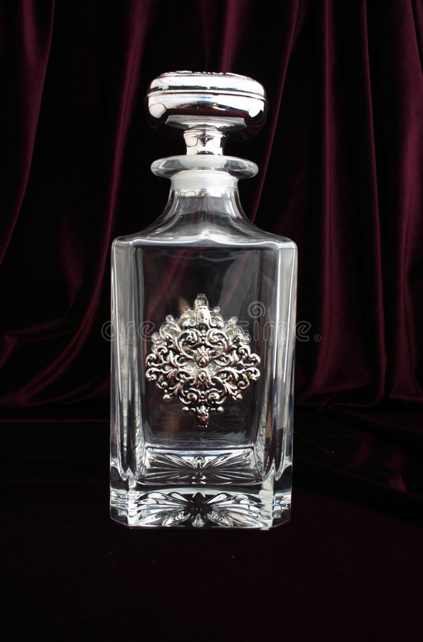 Crystal bottle royalty free stock photography