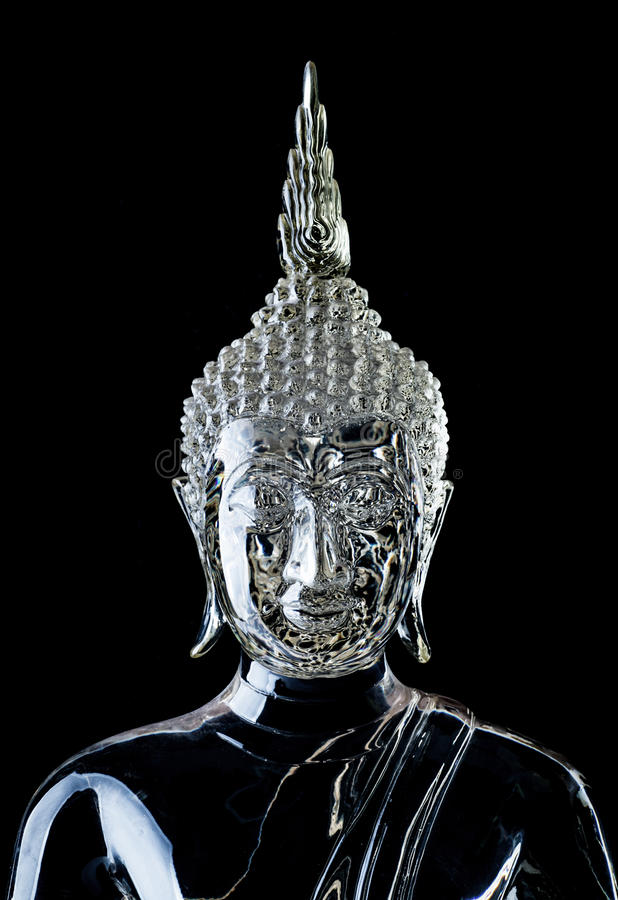 Crystal Buddha statue stock photos
