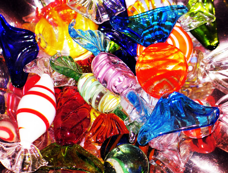 Crystal candies stock images
