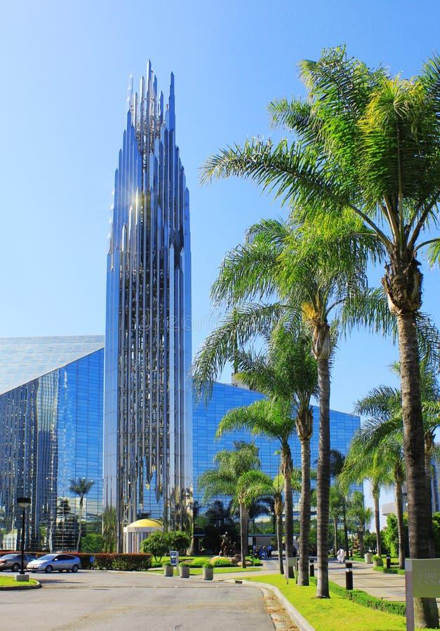 Crystal Cathedral är en kyrklig byggnad i Kalifornien, USA royaltyfri foto