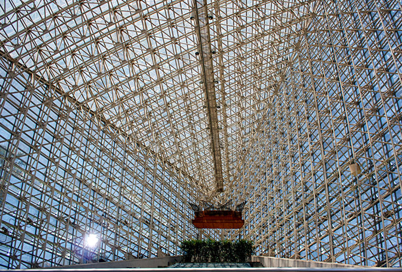Crystal Cathedral-binnenland royalty-vrije stock foto