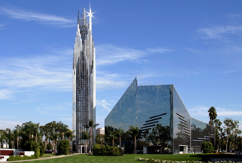 Crystal Cathedral in California stock photography