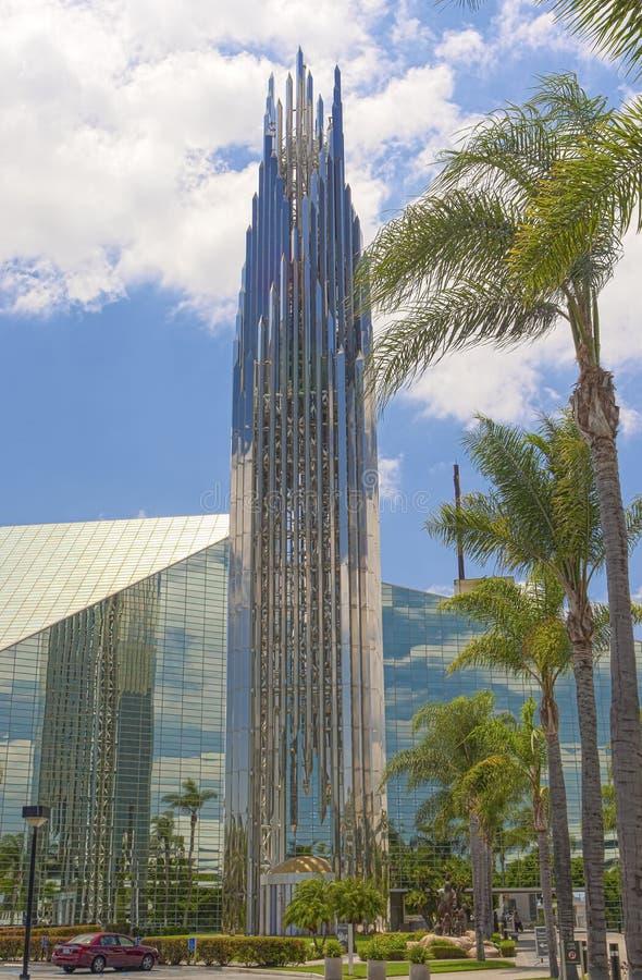 Crystal Cathedral Church som ett ställe av beröm- och dyrkanguden i Kalifornien royaltyfria foton