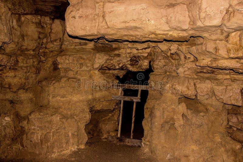 Crystal Cave est situé près de la frontière du Wisconsin/du Minnesota dans S photos libres de droits