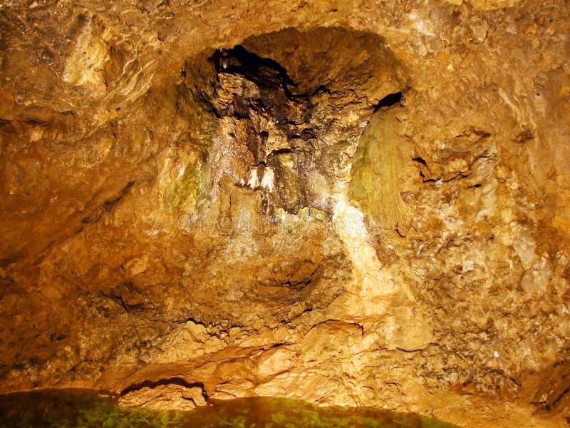 Crystal cave Kobelwald or Die Kristallhöhle Kobelwald Kristallhohle Kobelwald or Kristallhoehle Kobelwald stock photography