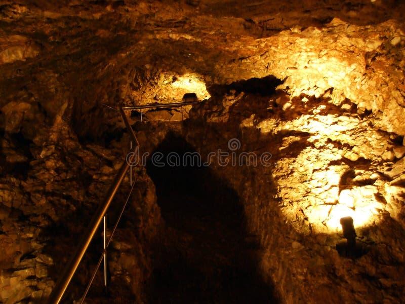 Crystal cave Kobelwald or Die Kristallhöhle Kobelwald Kristallhohle Kobelwald or Kristallhoehle Kobelwald stock images