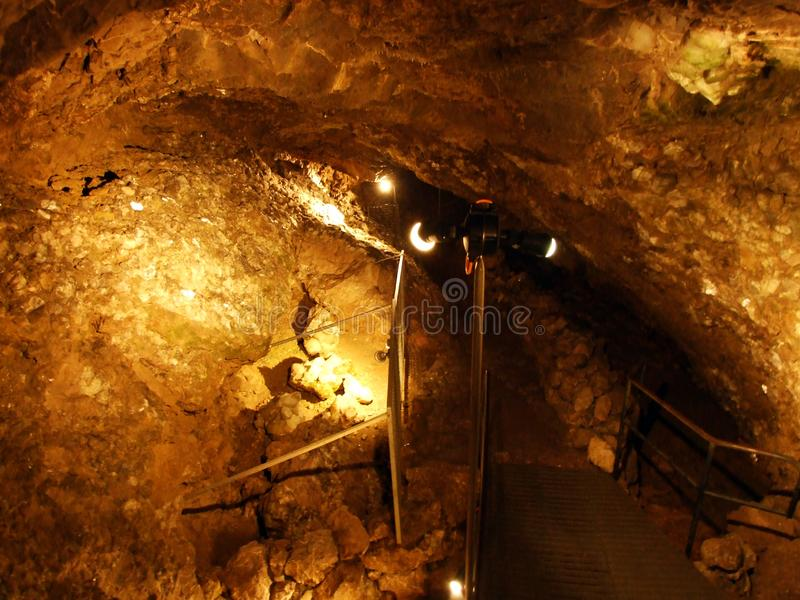Crystal cave Kobelwald or Die Kristallhöhle Kobelwald Kristallhohle Kobelwald or Kristallhoehle Kobelwald stock photo