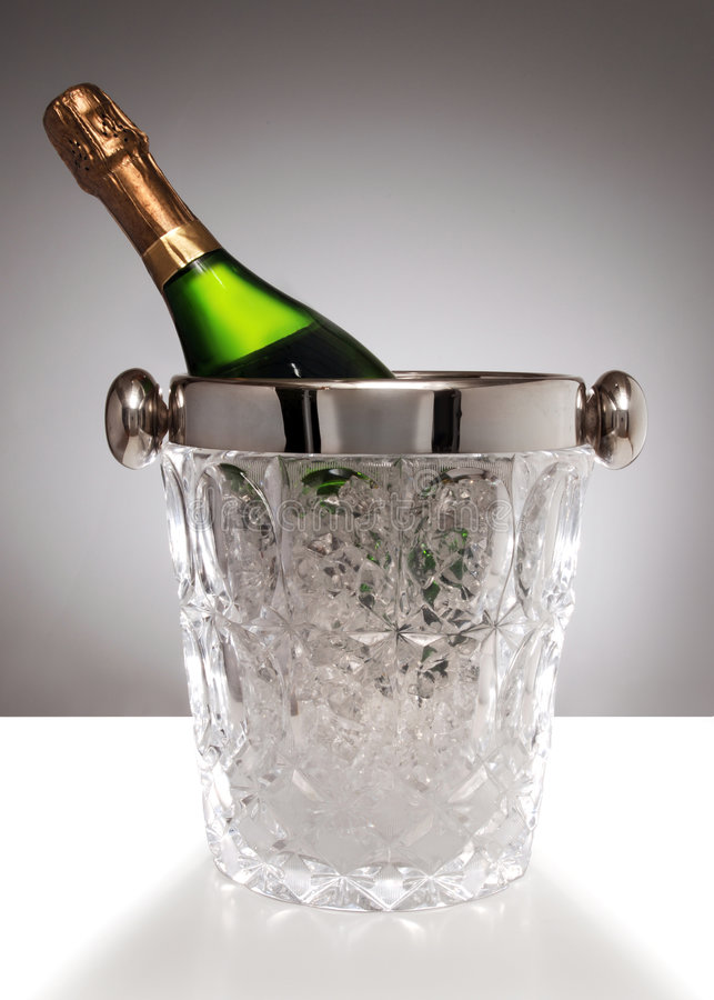 Crystal champagne bucket royalty free stock photo