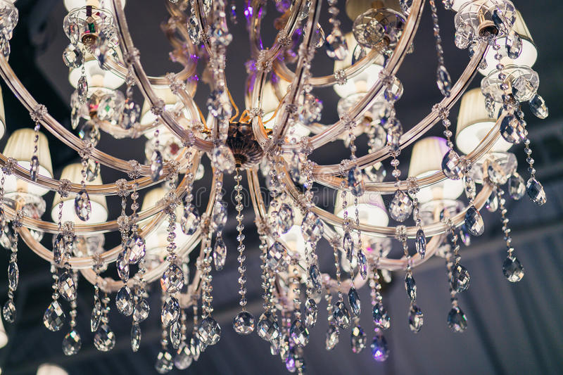 Crystal Chandelier Close Up stock photography