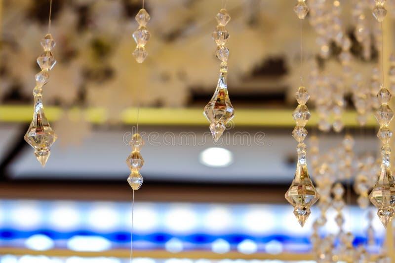Crystal Chandelier luxuoso Fim acima imagem de stock royalty free